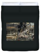 Aerial View Of The Terrorist Attack Duvet Cover by Stocktrek Images