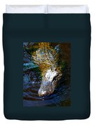 Alligator In Mississippi River Duvet Cover