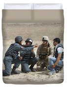 An Afghan Police Student Loads A Rpg-7 Duvet Cover