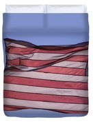 An American Flag At Sunrise Duvet Cover