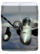 An Fa-18c Hornet Receives Fuel Duvet Cover