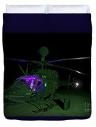 An Oh-58d Kiowa Helicopter At Cob Duvet Cover
