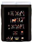 Ancient Egyptian Hieroglyphs Duvet Cover