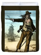 Anne Bonny, 18th Century Pirate Duvet Cover
