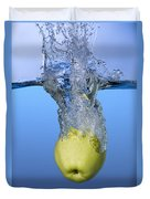 Apple Dropped In Water Duvet Cover