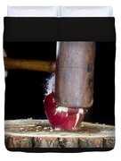 Apple Smashed With Mallet Duvet Cover
