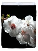 Apricot Flowers At Night Duvet Cover