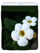 Bacopa Named Snowtopia Duvet Cover