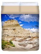 Badlands In Alberta Duvet Cover