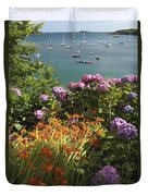 Bay Beside Glandore Village In West Duvet Cover