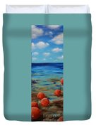 Beach Buoys Duvet Cover