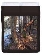 Beaver Marks Duvet Cover
