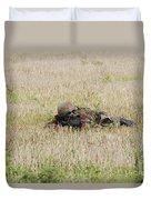 Belgian Paratroopers On Guard Duvet Cover by Luc De Jaeger
