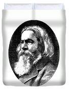 Benjamin Peirce, American Mathematician Duvet Cover