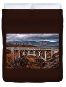 Bridge Over Autumn Duvet Cover