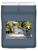 Bubble Boy Of Central Park Duvet Cover