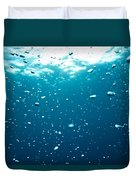 Bubbles Underwater Duvet Cover