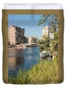 Cairo City Streets Duvet Cover