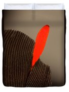 Cedar Waxwing Feather Duvet Cover