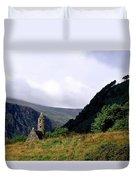 Chapel Of Saint Kevin At Glendalough Duvet Cover