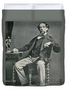 Charles Dickens, English Author Duvet Cover by Photo Researchers