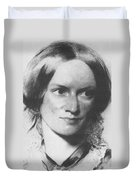 Charlotte Bronte, English Author Duvet Cover by Science Source