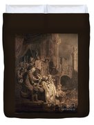 Christ Before Pilate Duvet Cover