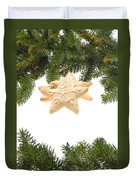 Christmas Cookies Decorated With Real Tree Branches Duvet Cover