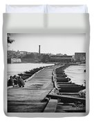Civil War: Pontoon Bridge Duvet Cover