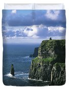 Cliffs Of Moher, Co Clare, Ireland Duvet Cover