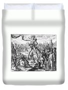 Colossus Of Rhodes Duvet Cover