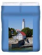 Cove Island Lighthouse Duvet Cover