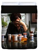 Depression And Addiction Duvet Cover