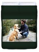 Dog Grooming Duvet Cover
