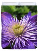 Double Clematis Named Crystal Fountain Duvet Cover