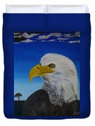 Eagle At Dusk Duvet Cover