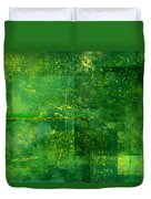 Emerald Heart Duvet Cover by Christopher Gaston