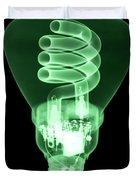 Energy Efficient Light Bulb Duvet Cover by Ted Kinsman