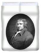 Erasmus Darwin, English Polymath Duvet Cover