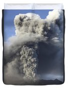 Eruption Of Ash Cloud From Mount Bromo Duvet Cover