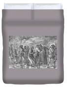 Escaping To Underground Railroad Duvet Cover