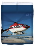 Eurocopter Ec135 Utility Helicopter Duvet Cover