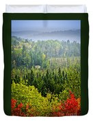 Fall Forest Rain Storm Duvet Cover