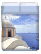 Fira - Santorini Duvet Cover by Joana Kruse