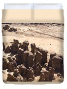 Giant Sandstone Outcroppings Deep Duvet Cover