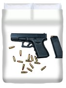 Glock Model 19 Handgun With 9mm Duvet Cover