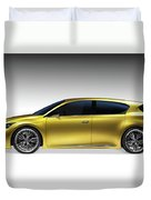 Gold Lexus Lf-ch Hybrid Car Duvet Cover