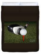 Golf Ball And Club Duvet Cover