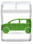 Green Car Duvet Cover
