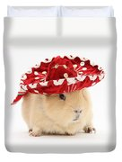 Guinea Pig Wearing A Hat Duvet Cover